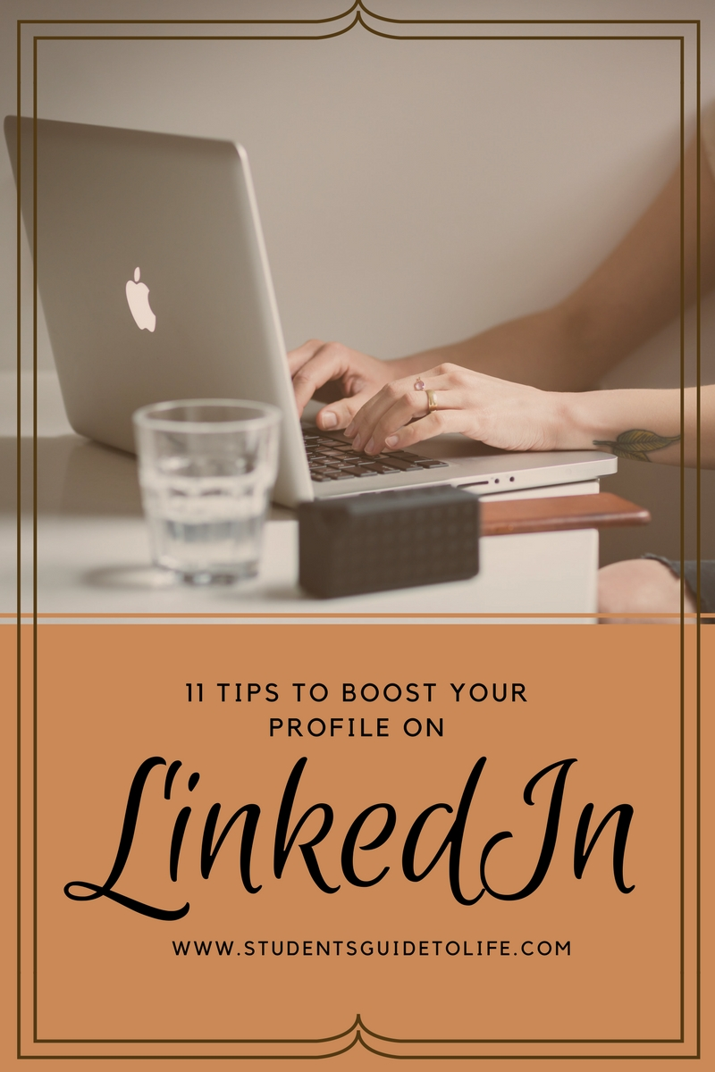 students guide to life - boost your linkedin profile